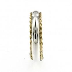 Fedina/anello di fidanzamento in argento, formato classico
