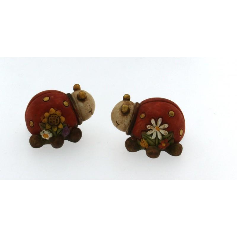 Coccinelle in ceramica