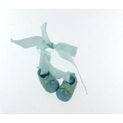 Scarpette fiocco azzurro