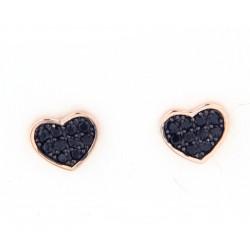 orecchini cuore nero