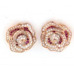 orecchini a rosa