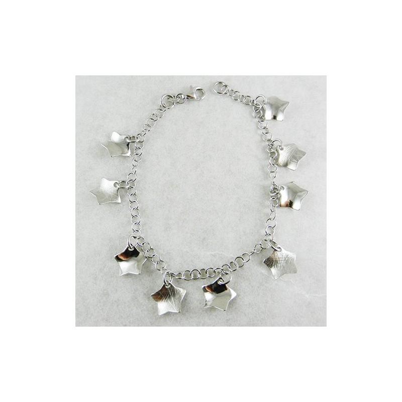 Bracciale Donna in argento con stelle