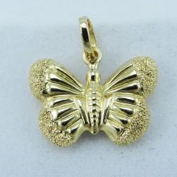 Pendente in oro giallo Farfalla